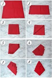Decorative Napkin Folding Napkin Folding 3 Ideas For Your Christmas Table About