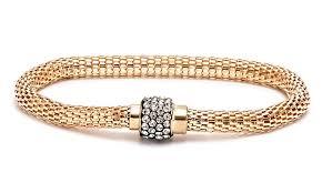 bracelet clasps magnetic images Crystal meshed bracelet groupon goods jpg