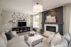 Contemporary Living Room With Cement Fireplace  Carpet In - Ballard designs living room
