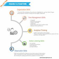 Examples Of Skills In A Resume by Attention To Detail Skills List Of Attention To Detail Examples