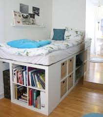 Shelf Bed Frame Elevated Bed With Storage Duque Inn