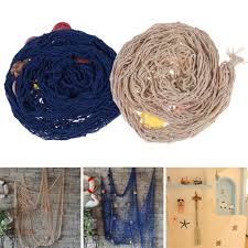 creative decorative nautical fishing net seaside wall beach party