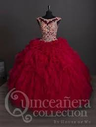 burgundy quince dresses floral embroidered quinceanera dress by house of wu 26883 abc