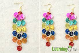 diy button earrings easy jewelry idea on how to make rainbow dangle button earrings