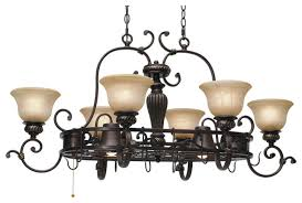 oil rubbed bronze pot rack with lights eldrige 36 1 2 wide 4 light bronze pot rack chandelier style within