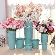 Tin Flower Vases Old Looking Wholesale Garden Metal Flower Vases Galvanized Flower