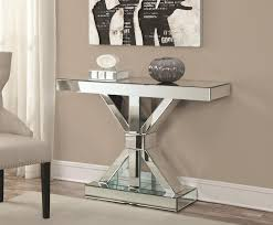 Glass Console Table Silver Glass Console Table A Sofa Furniture Outlet Los