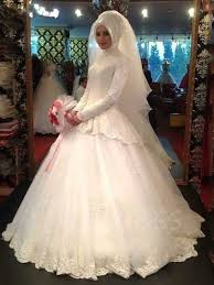 islamic wedding dresses sleeve gown lace muslim arabic wedding dress with