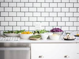 kitchen white subway tiles with black grout pictures decorations