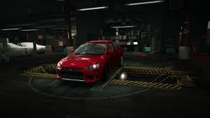 lancer evo red image garage mitsubishi lancer evolution x red jpg nfs world