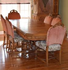 Chippendale Dining Room Set by Vintage Eastlake Walnut Dining Table Set By H E Shaw Ebth