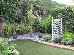 magnificent outdoor layout with brick wall and compact grasses