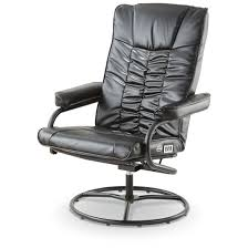 dr scholl u0027s shiatsu massage reclining swivel chair black