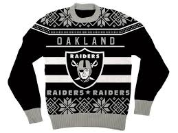 raiders christmas sweater with lights nfl oakland raiders logo black football ugly christmas sweater