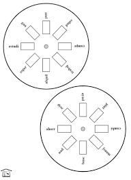 verb wheels 2 member access u2013 printable spanish