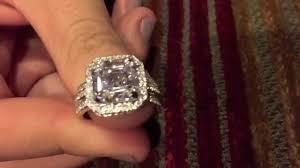 4 carat cubic zirconia engagement rings 4 carat asscher cubic zirconia ring