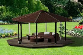 Metal Pergolas With Canopy by Garden Hampton Bay Gazebo For Inspiring Pergola Design Ideas