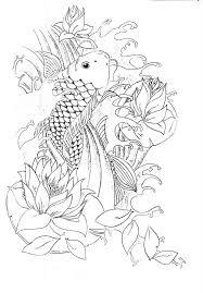 black outline koi fish design jpg 714 1024