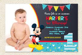 mickey mouse birthday invitations mickey mouse 1st birthday invitations mickey invitations