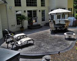 look for outdoor stamped concrete patio