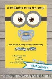 minions baby shower custom minion baby shower invite baby shower invitations