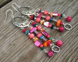 Colorful Chandelier Earrings Colorful Chandelier Etsy