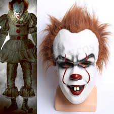 Scary Clown Halloween Costumes Adults Stephen King U0027s Mask Scary Clown Joker Halloween Costume