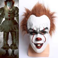 stephen king u0027s mask scary clown joker it halloween costume