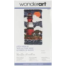 Lighthouse Rugs Caron Wonderart Latch Hook Kit 16 X32 Lighthouse Walmart Com
