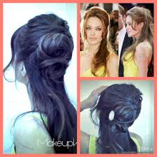 Easy Hairstyles Medium Long Hair by Angelina Jolie Inspired How To Flower Bun Chignon Updo Hairstyles