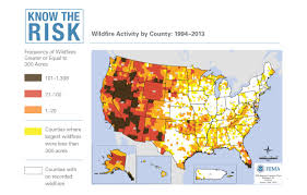 Fema Map Graphic Wildfire Activity By County Fema Gov