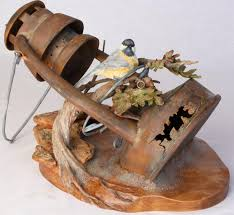 wood sculpture artists lantern wood sculpture by darwin dower western the world s