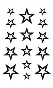 3d temporary tattoo stars design size 10 5x6cm 1pc amazon in