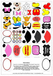 mickey mouse photo booth props instant 35 pieces disney mickey mouse inspired photo