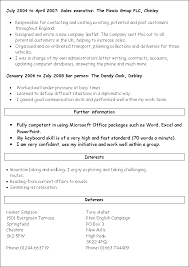 Examples Of A Chronological Resume by Cvs And Applications