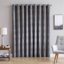 Premium Curtains Warm Home Designs 110 Wide Charcoal 100 Blackout Patio Door