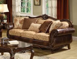 Wooden Frame Sofa Set Marvelous Traditional Sofa Wooden Frame Artistic Patterned Design