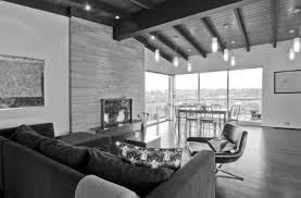 mid century modern architecture inspiration black and white