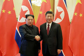 kim shows unity with china s xi in first foreign trip the east