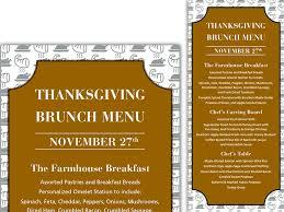 thanksgiving brunch menu by irisi tole dribbble