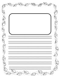 paper single primary lined paper thanksgiving writing paper fall