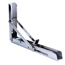 Folding Bracket For Tables And Benches Pair Polished Stainless Steel Folding Shelf Or Bracket 330lb Short