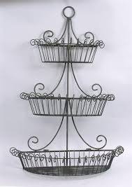 metal fruit basket three layers of black metal wire fruits basket mounted on the wall