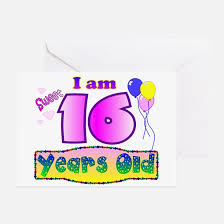 sweet 16 greeting cards cafepress