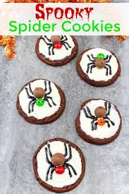 spooky spider cookies recipe spider cookies halloween