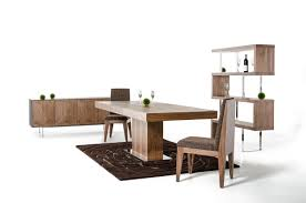 Expandable Dining Room Table Modern Walnut Extendable Dining Table