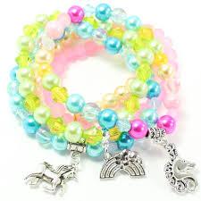 bracelet kit images Rainbow unicorn bracelet stack kit for kids waterfall beads jpg