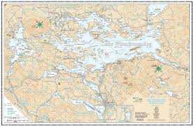 How To Hang A Map Without A Frame by Lake Winnipesaukee Navigation Chart