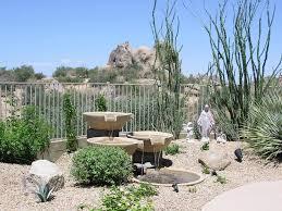 fountain garden landscape southwestern with rock garden outdoor
