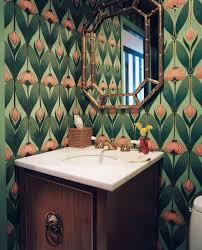 art deco powder room wallpaper design ideas lonny